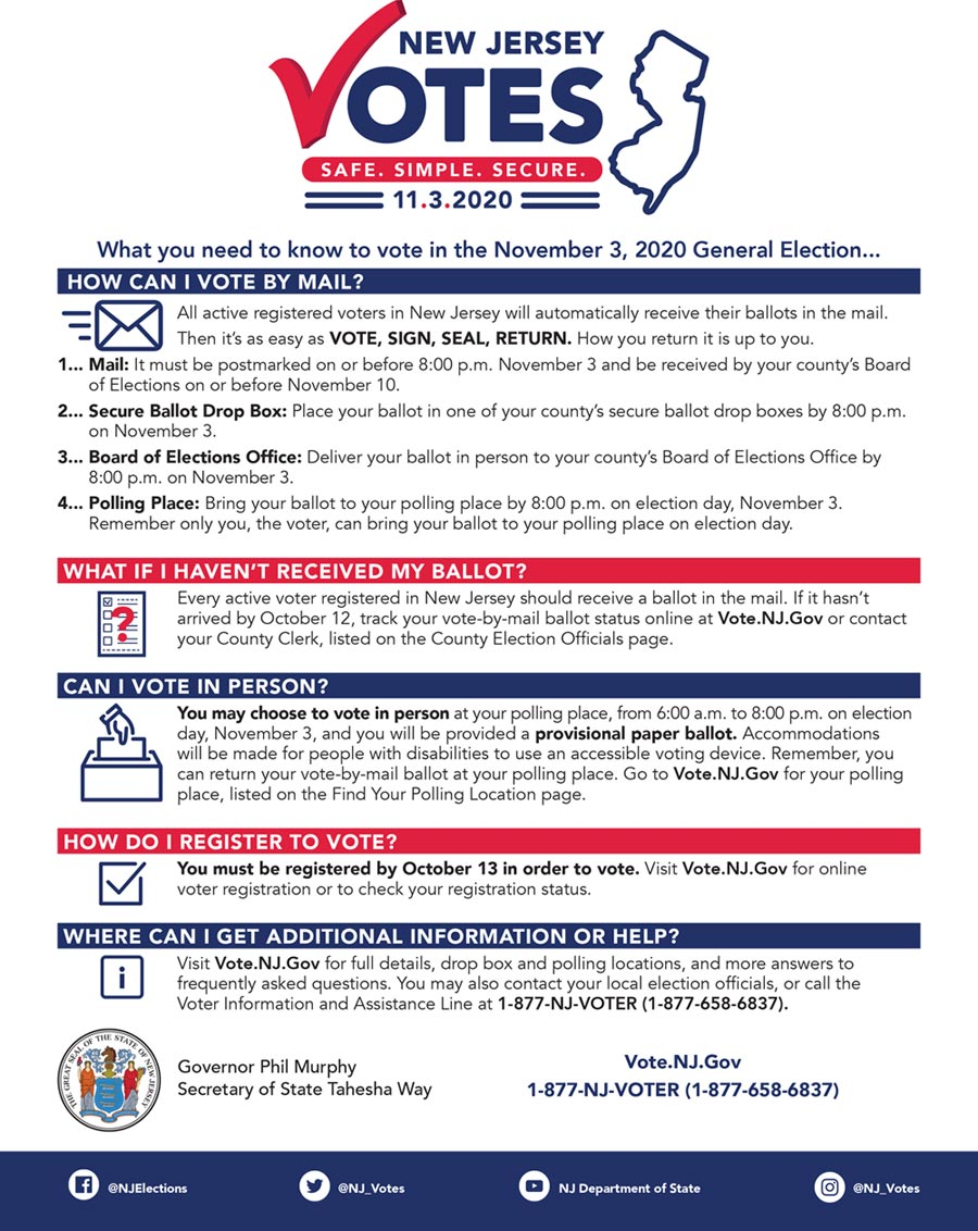 2020 Elections informational Flyer
