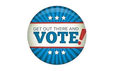 Get out there and vote!