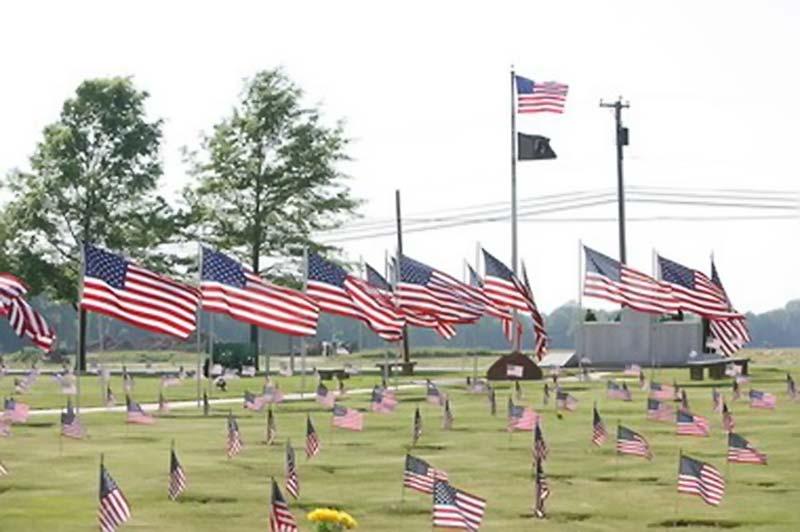 Flag in Veterans Cemeteryy